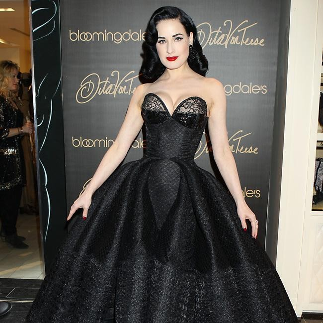Dita Von Teese stuns at lingerie launch in NYC