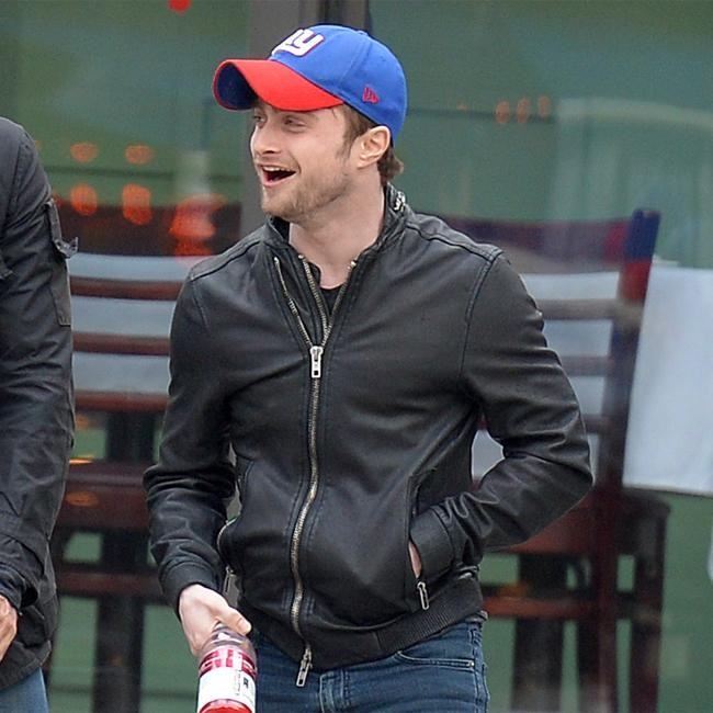 Daniel Radcliffe Jokes With Friends In New York