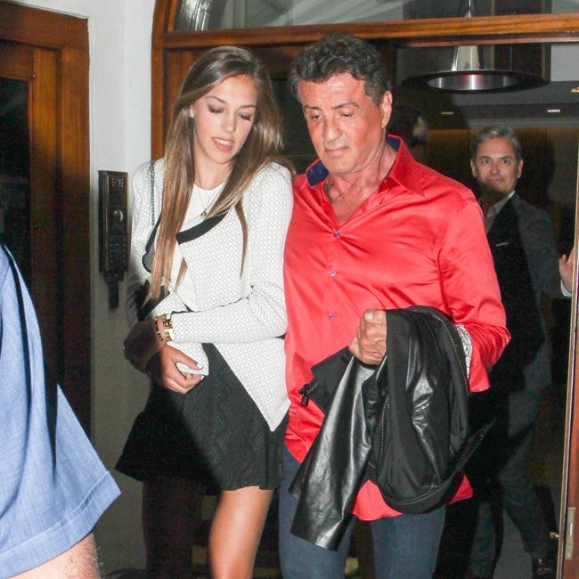 Sylvester Stallone dines with daughter in London