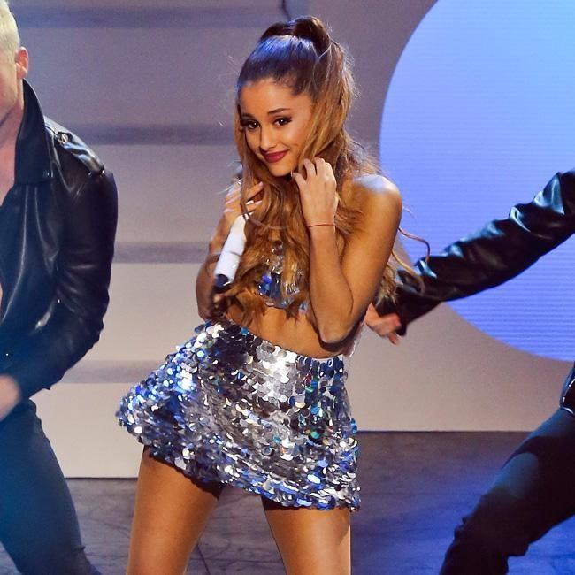 Ariana grande stripping look alike
