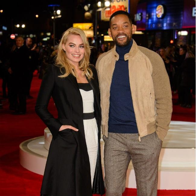 Margot Robbie and Will Smith go casual at premiereMargot Robbie Will Smith