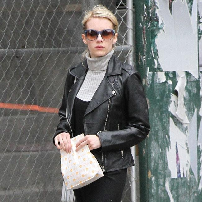 Emma Roberts Leather Look