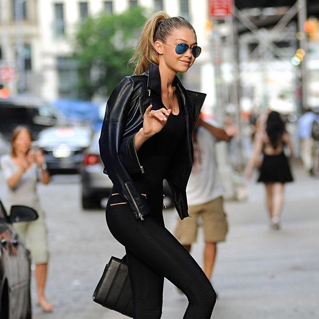 916c1533b6867 Gigi Hadid channels her inner Sandy from Grease