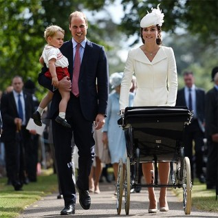 Princess Charlotte says first word in public
