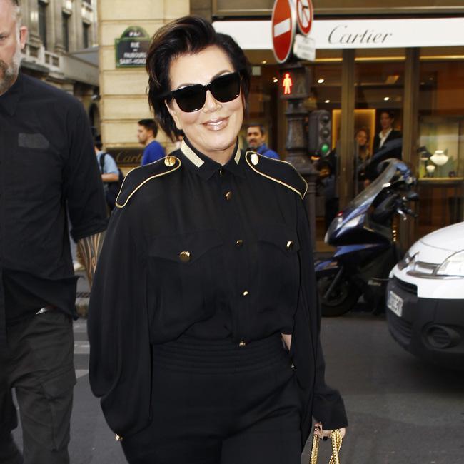 Kris Jenner rocks military ensemble