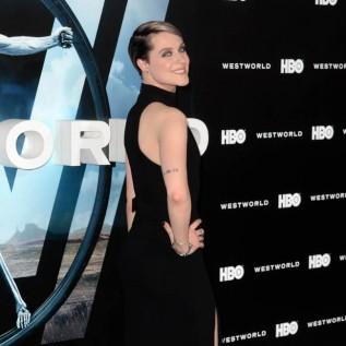 Evan Rachel Wood shows off arm tattoo