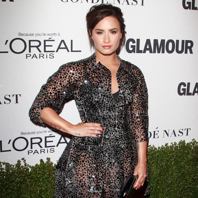 Demi Lovato is fierce in polka dot sheer gown