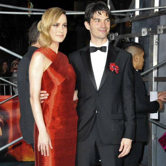 Lovebirds Brie Larson and Alex Greenwald attend King Kong: Skull Island premiere
