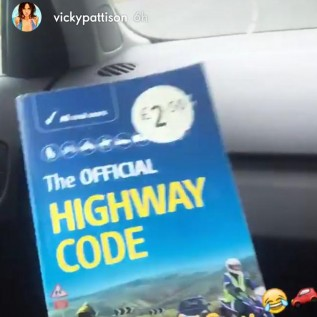 Vicky Pattison is learning to drive