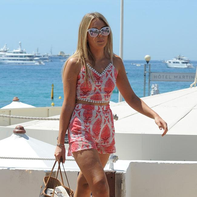 Talia Storm soaks up the sun in Cannes