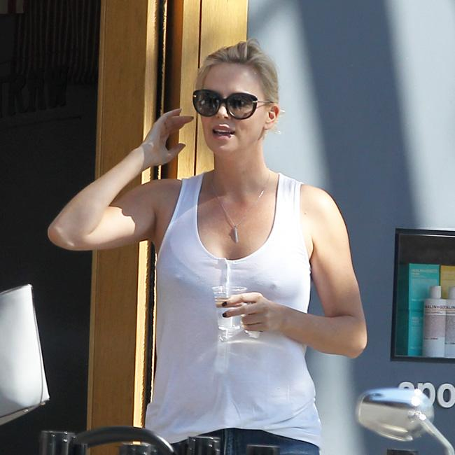 Charlize Theron loves cleaning