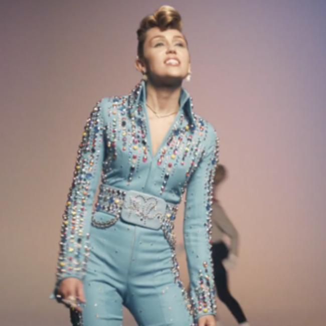 Miley Cyrus channels Elvis in music video for Younger Now