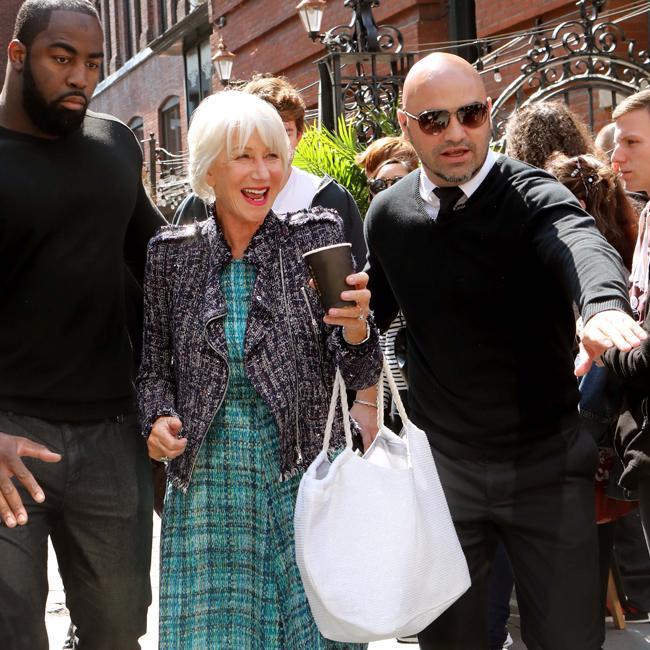 Helen Mirren gets hunky escorts