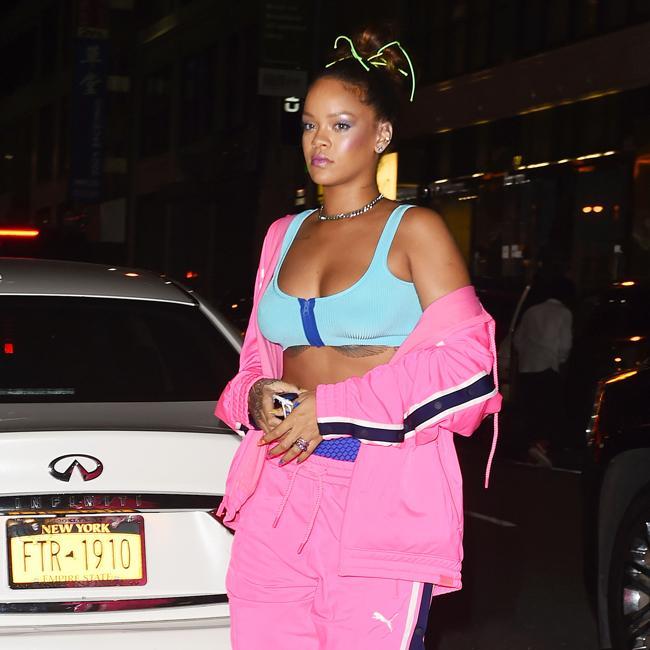 Rihanna flaunts toned abs in Puma x Fenty tracksuit