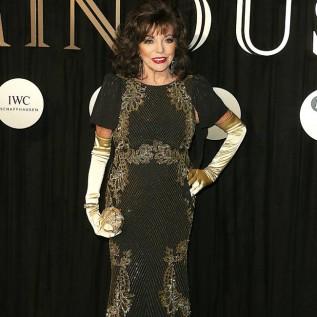 Joan Collins hid in a wardrobe to escape producer's advances