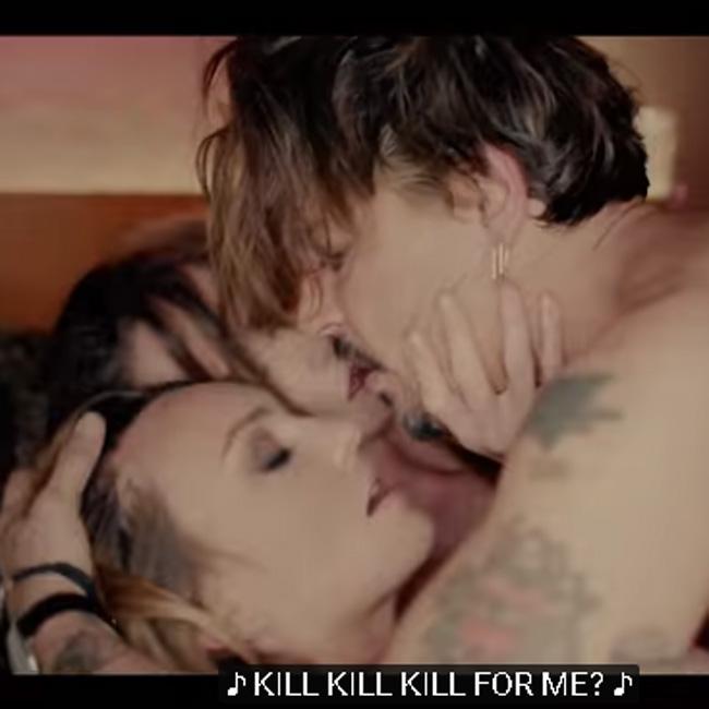 Johnny Depp simulates threesome in Marilyn Manson video