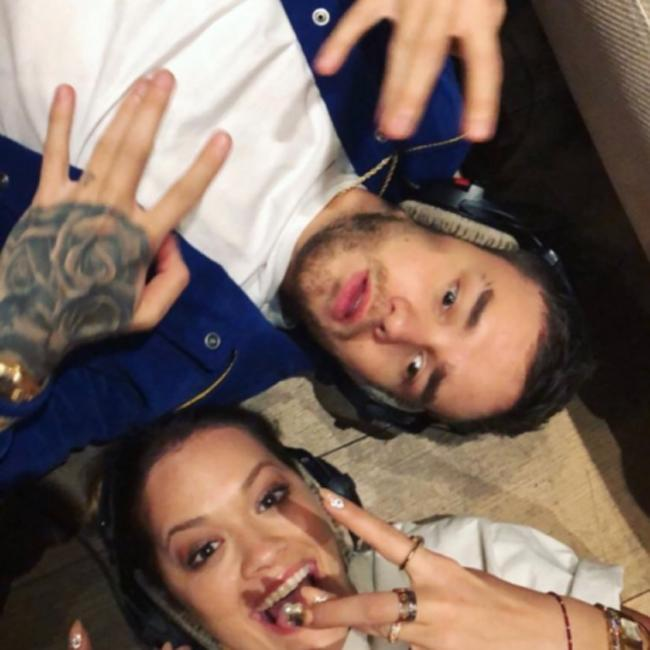 Rita Ora and Liam Payne hit the studio for collaboration