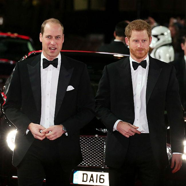 Prince William and Harry attend premiere