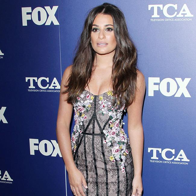 Lea Michele flees the wildfires in California