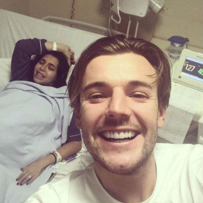 Cara De La Hoyde gives birth to baby boy