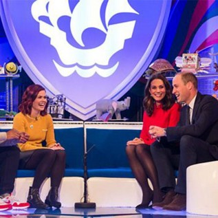 Prince William and Duchess Catherine receive Blue Peter badges