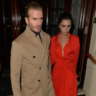Victoria and David Beckham put on cosy display