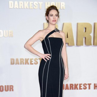 Lily James obsessed with using typewriter in The Darkest Hour