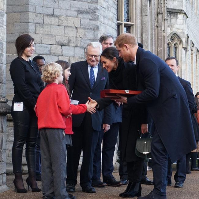Prince Harry and Meghan Markle gifted love spoon on Cardiff tour