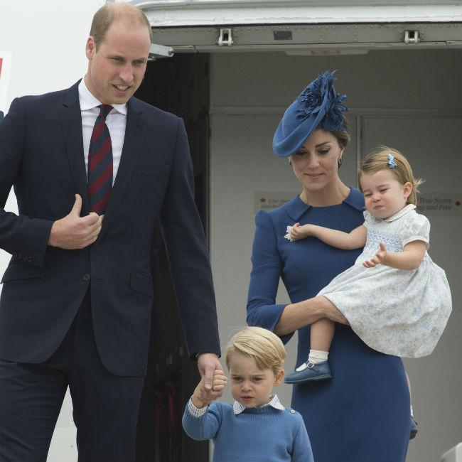 Prince George and Princess Charlotte love their Aston Villa kits