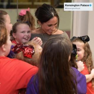 Meghan Markle's royal group hug