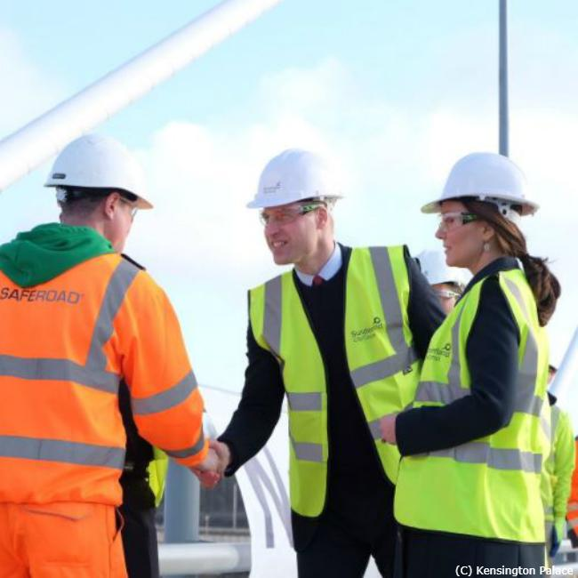Prince William works on new bridge