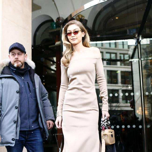 Gigi Hadid rocks nude Fendi dress in Paris