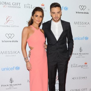Liam Payne supports Cheryl's charity work