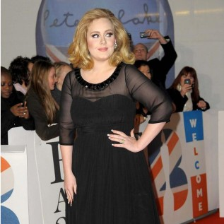 Adele's middle finger protest in 2012
