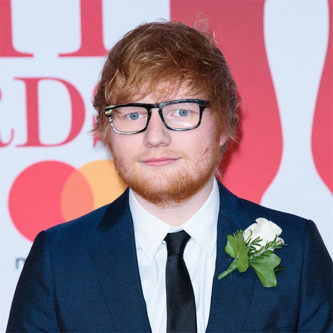 Ed Sheeran looks dapper at The O2
