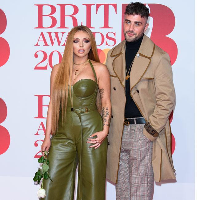 Jesy Nelson attends the BRITs with her boyfriend