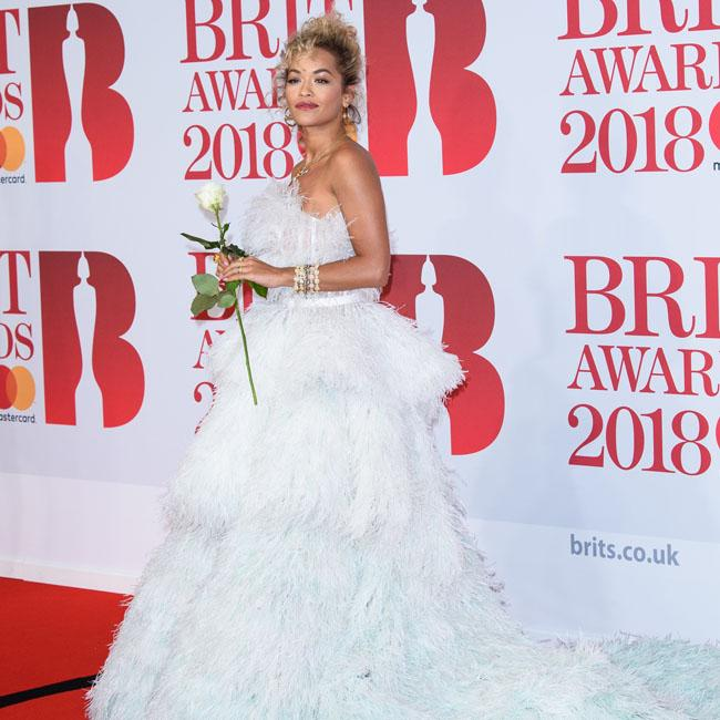 Rita Ora's all-white at the BRITs