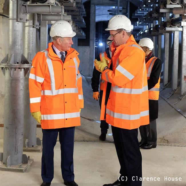Prince Charles visits London Power Tunnels