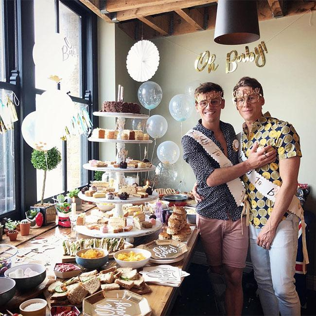 Tom Daley and Dustin Lance Black celebrate with baby shower