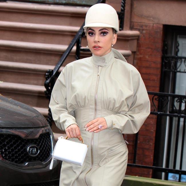 Lady Gaga raises eyebrows as she heads to recording studio in unique ensemble