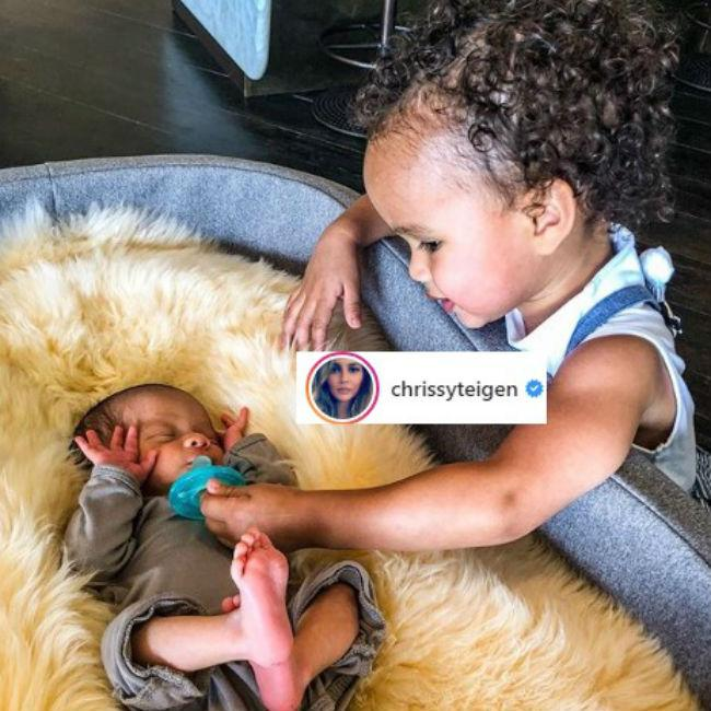 Chrissy Teigen reveals how her kids are getting on