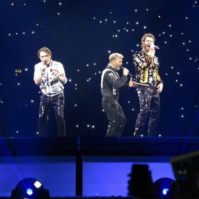 Take That went 'undercover' to take a peek at Backstreet Boys' residency