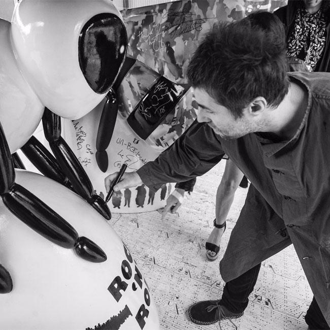Bee Here Now! Liam Gallagher creates sculpture for We Love Manchester