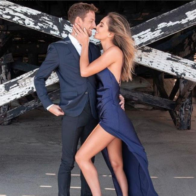Jenson Button is engaged