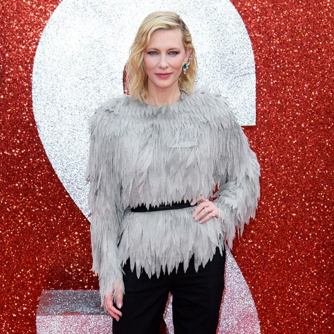 Cate Blanchett looks chic as she hit the red carpet of the Ocean's 8 premiere