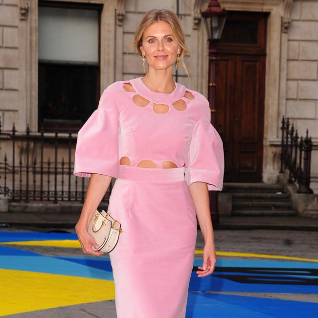 Donna Air attends glamorous party looking pretty in pink