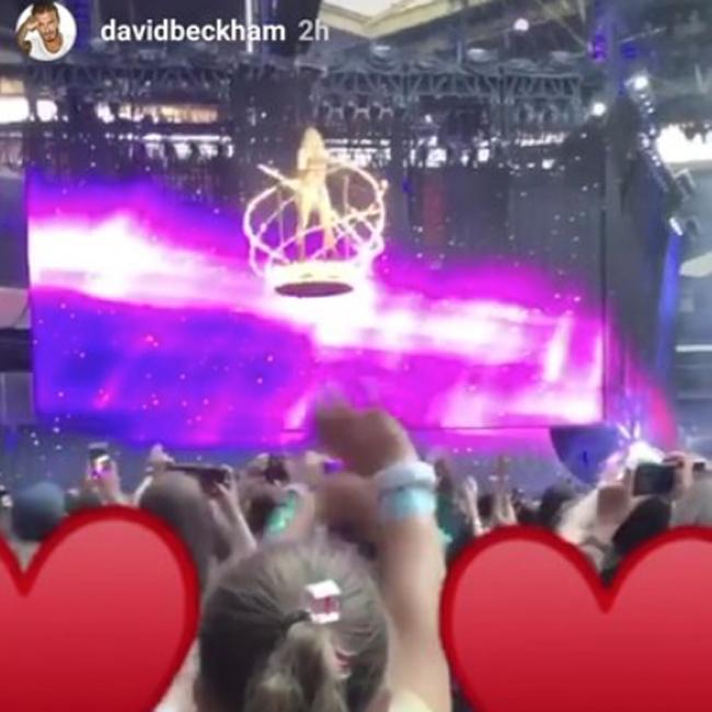 David Beckham takes Harper Beckham to Taylor Swift gig