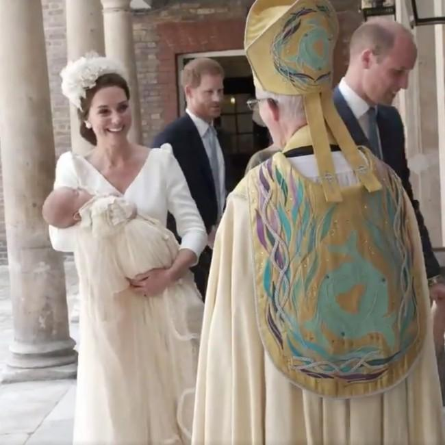 Prince Louis has been christened