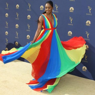Tiffany Haddish jokes about sleeping with Emmy gong
