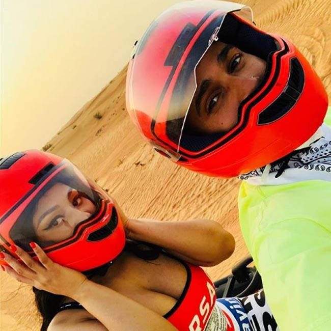 Nicki Minaj and Lewis Hamilton fuel dating rumours with bike ride photos